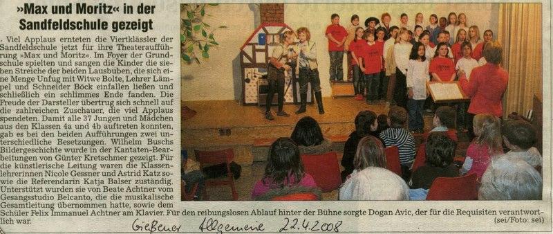 Kinderchor - GI Allg. 22.04.2008