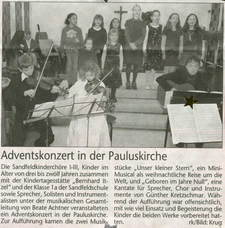 Kinderchor - Paulskirche Advent 2008